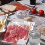 wonderful food from the supermarket, lunch in Milan, photo by LdV