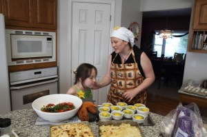explaining away to my lovely cousin who apparently really likes fennel! (photo by LdV)