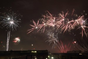 fireworks, photo from our 2nd floor, by LdV