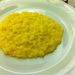 risotto alla milanese, eaten in Milan