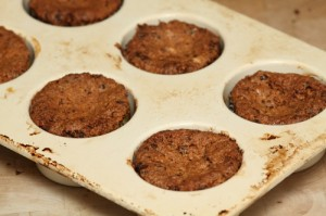 chocolate almond cupcakes, just out of the oven