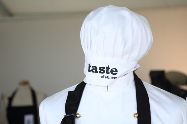 Cute chef's hats and aprons at Taste of Milan