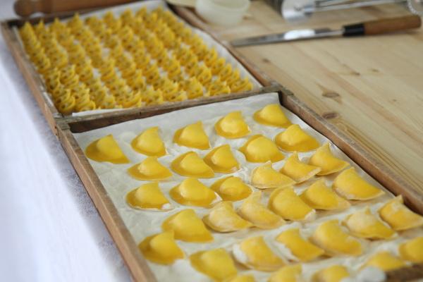 Hand made tortellini and ravioli at Taste of Milano