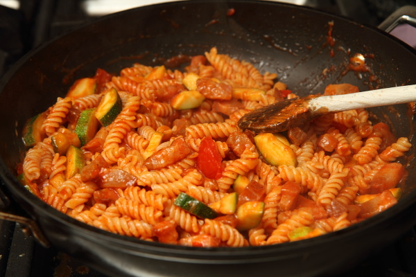 finished pasta all'Amatriciana alla valerie